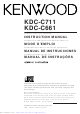 Kenwood KDC-C711 Instruction Manual